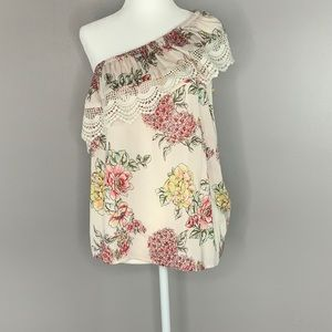 Angie one shoulder floral top